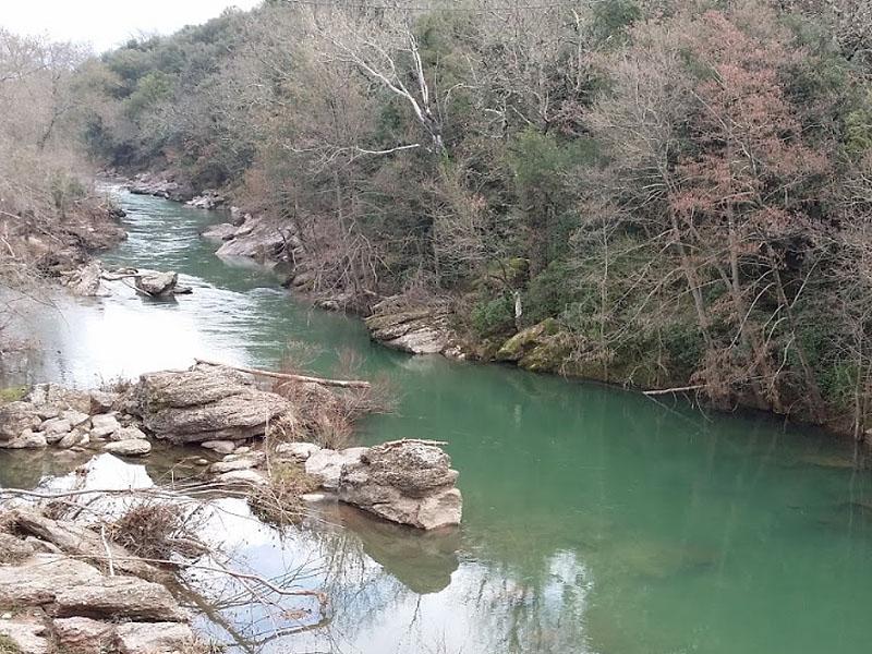 Река Орб (Orb) в коммуне Ла Тур-Сюр-Орб