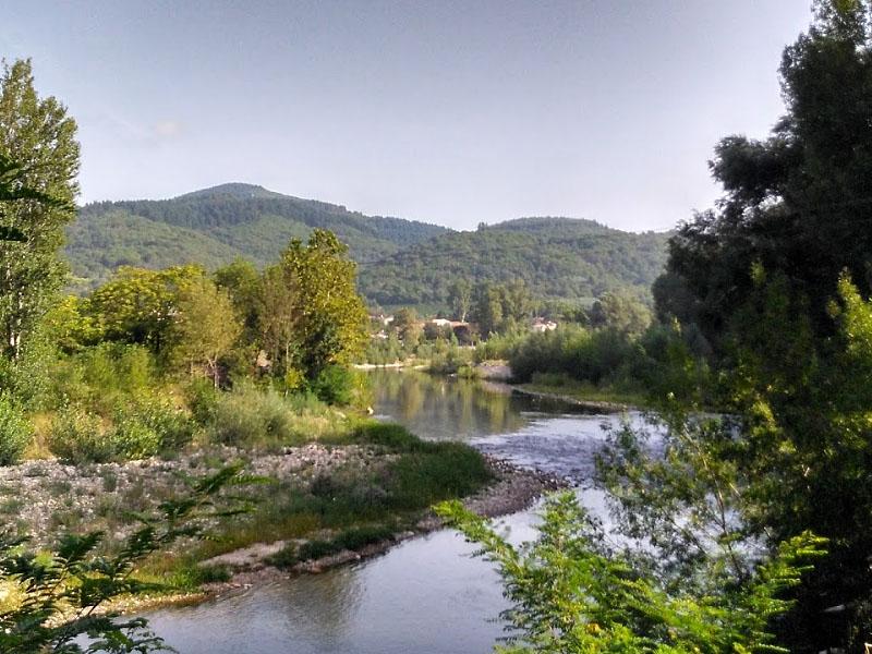 Река Орб (Orb) на равнине Безье