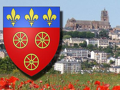 Город Родез (Rodez): панорама, герб