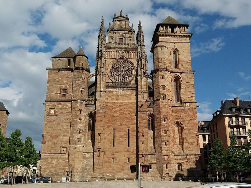 Город Родез (Rodez) - собор Нотр Дам де Родез