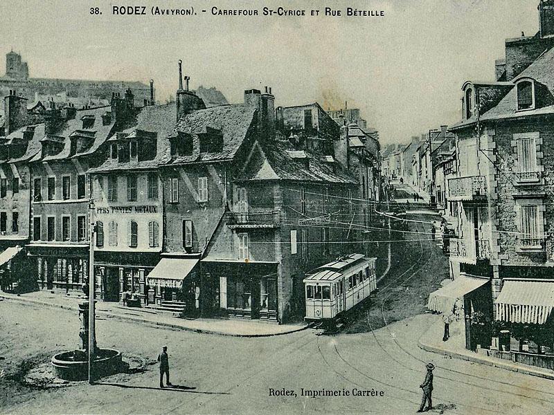 Город Родез (Rodez) в начале ХХ века